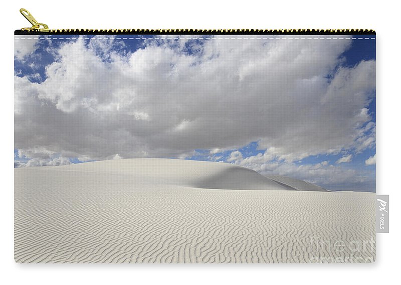 White Sand Dunes Carry-all Pouch featuring the photograph New Mexico Land Of Dreams 3 by Bob Christopher