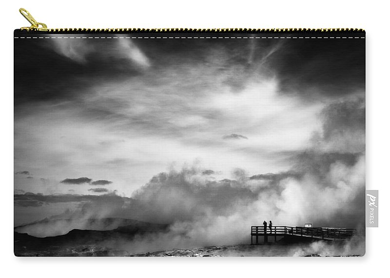 Reykjanes Carry-all Pouch featuring the photograph Land Of Fire by Dave Bowman
