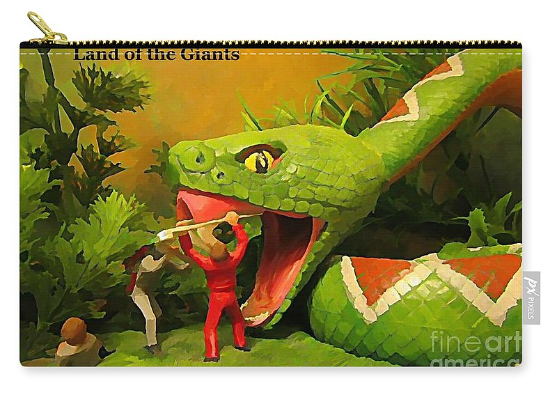 Land Of The Giants Carry-all Pouch featuring the photograph Land Of The Giants by John Malone