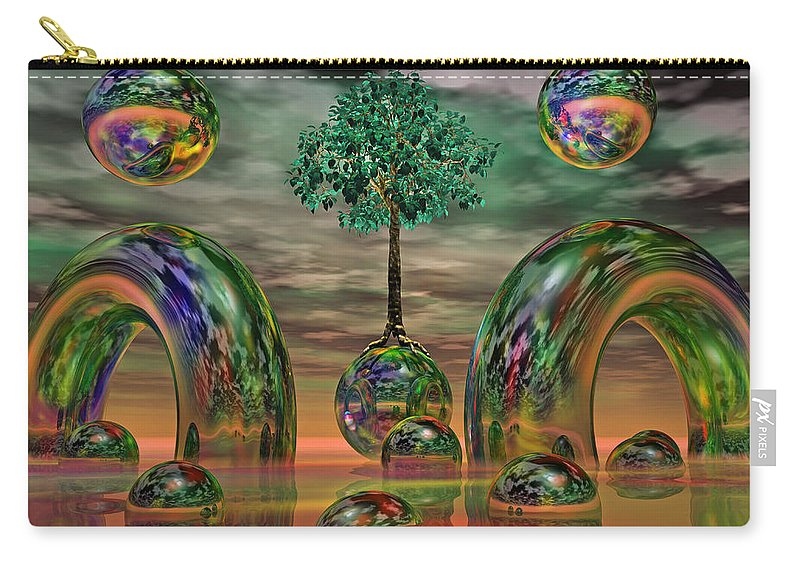 Fantasy Carry-all Pouch featuring the digital art Land Of World 8624036 by Betsy Knapp