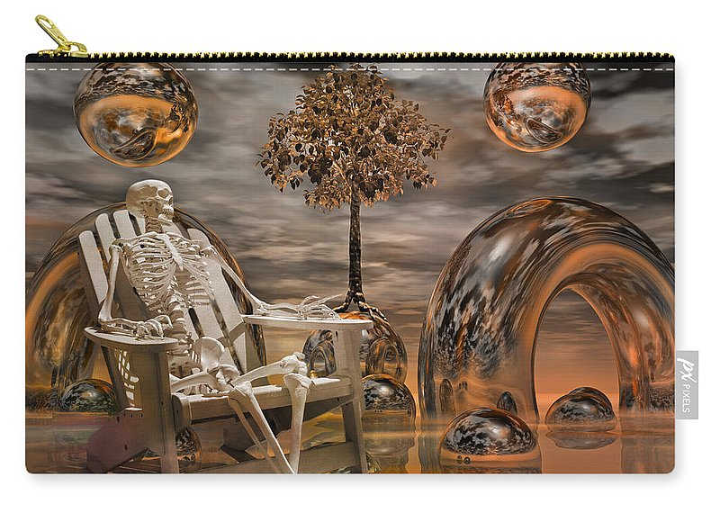Fantasy Carry-all Pouch featuring the digital art Land Of World 86240440 With Sam by Betsy Knapp