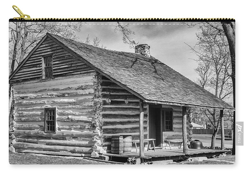 Clarence Ny Carry-all Pouch featuring the photograph Landow Log Cabin by Guy Whiteley