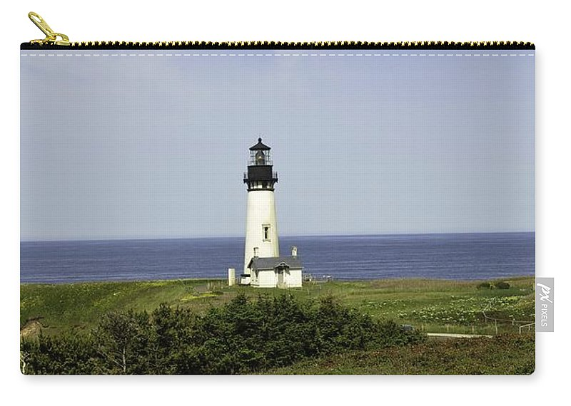 Newport Carry-all Pouch featuring the photograph Landscape At Yaquina Lighthouse by Image Takers Photography LLC - Laura Morgan