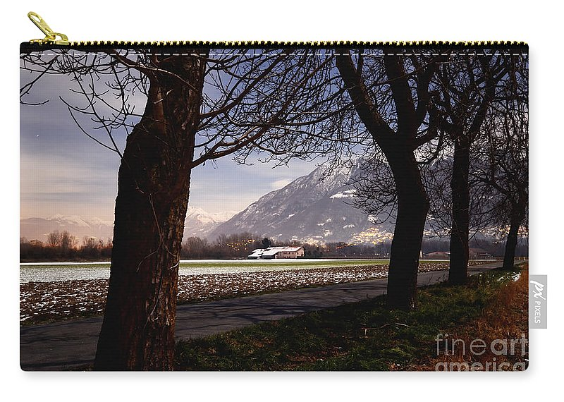 Trees Carry-all Pouch featuring the photograph Landscape At Night by Mats Silvan