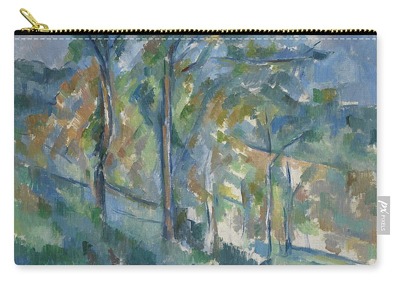 Post-impressionist Carry-all Pouch featuring the painting Landscape, C.1900 by Paul Cezanne