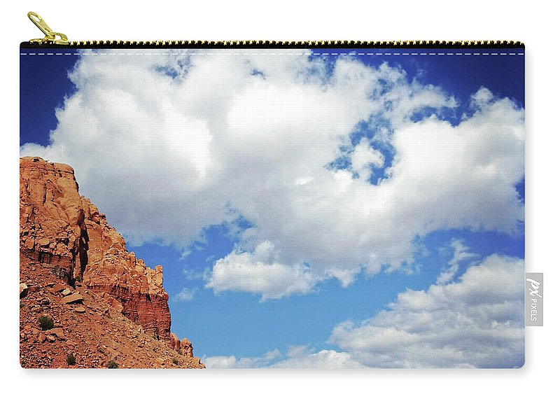 Scenics Carry-all Pouch featuring the photograph Landscape Desert Badlands Sky by Amygdala imagery