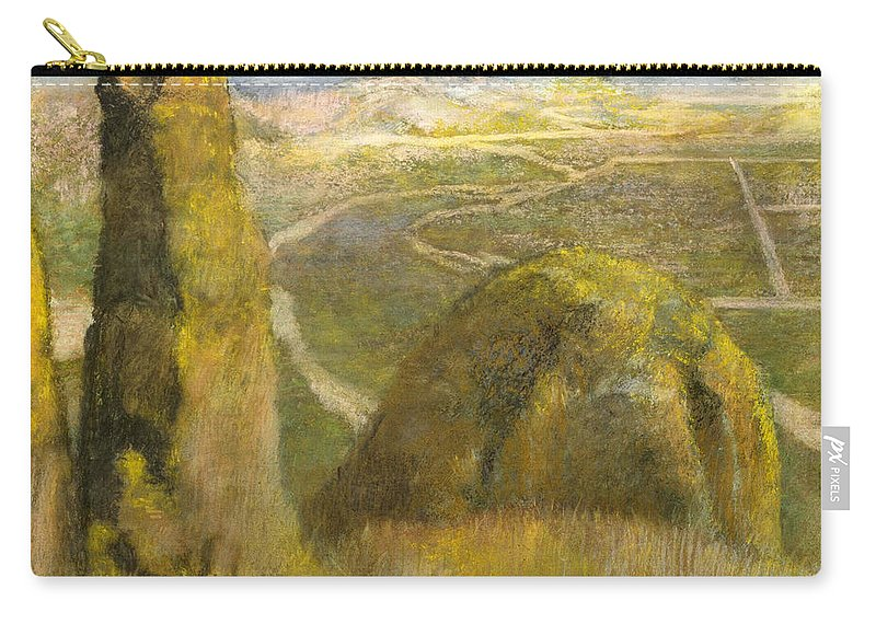 Landscape Carry-all Pouch featuring the painting Landscape by Edgar Degas