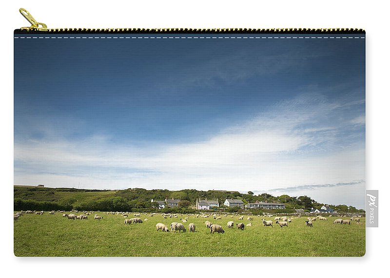Uk Carry-all Pouch featuring the photograph Landscape Near East Prawle In England by Chevy Fleet