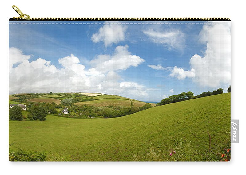 Uk Carry-all Pouch featuring the photograph Landscape Near Hallsands In Devon Gb by Chevy Fleet