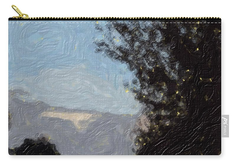 Landscape Carry-all Pouch featuring the painting Landscape of Fall by Sergey Bezhinets