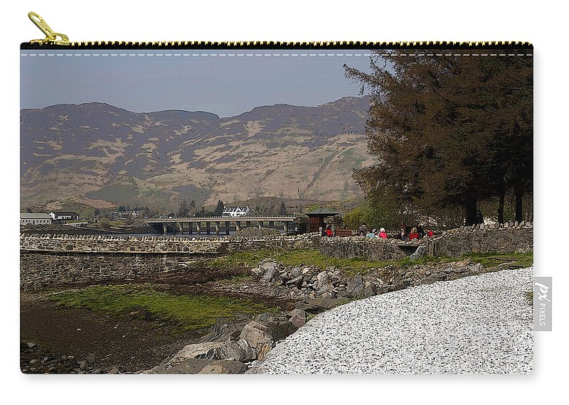 Beautiful Buildings Carry-all Pouch featuring the photograph Landscape Outside The Entrance To The Eilean Doonan Castle In Sc by Ashish Agarwal
