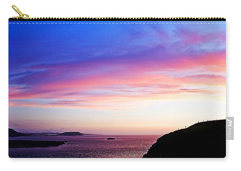 Landscape Carry-all Pouch featuring the painting Landscape - Sunset by Alex Art and Photo
