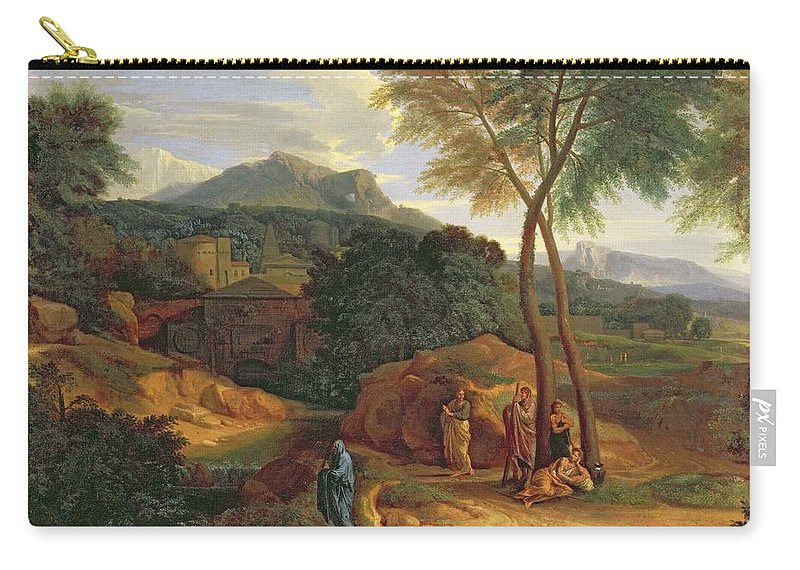 General Phocion Carry-all Pouch featuring the painting Landscape With Conopion Carrying by Jean Francois I Millet