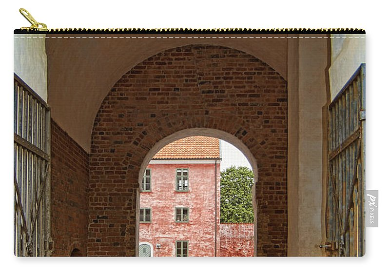 Army Carry-all Pouch featuring the photograph Landskrona Citadel Entrance by Antony McAulay