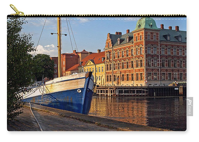 Landskrona Carry-all Pouch featuring the photograph Landskrona Se 202 by Jeff Brunton
