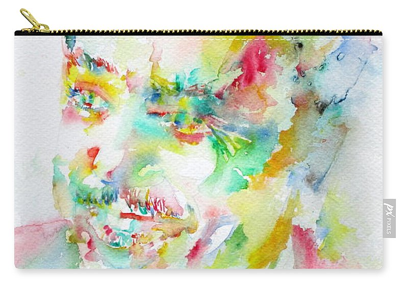 Langston Carry-all Pouch featuring the painting Langston Hughes by Fabrizio Cassetta