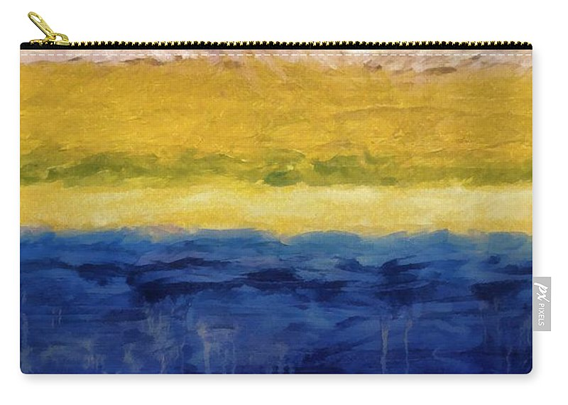 Oceanside Carry-all Pouch featuring the painting Lapis And Gold Get Married by Michelle Calkins