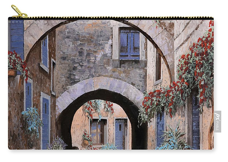 Devil Carry-all Pouch featuring the painting L'arco Del Diavolo by Guido Borelli