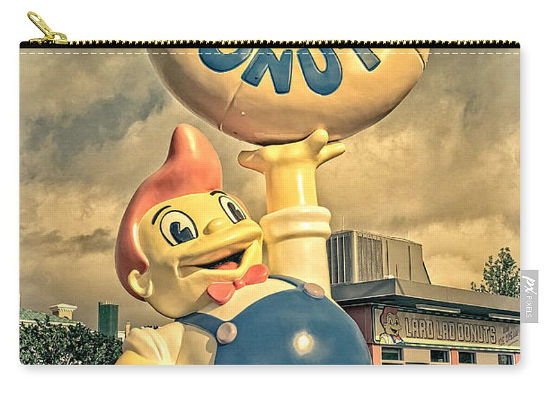 Lard Carry-all Pouch featuring the photograph Lard Lad Donuts by Edward Fielding
