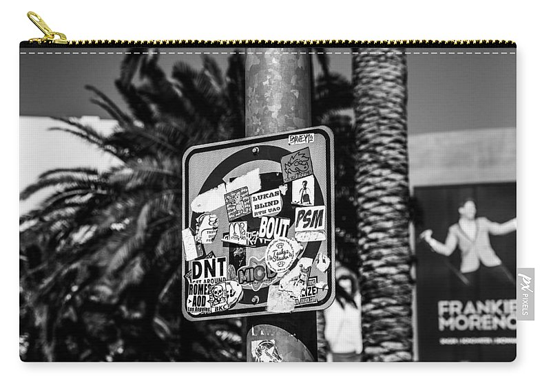 Nevada Carry-all Pouch featuring the photograph Las Vegas Sticker Sign by Angus Hooper Iii