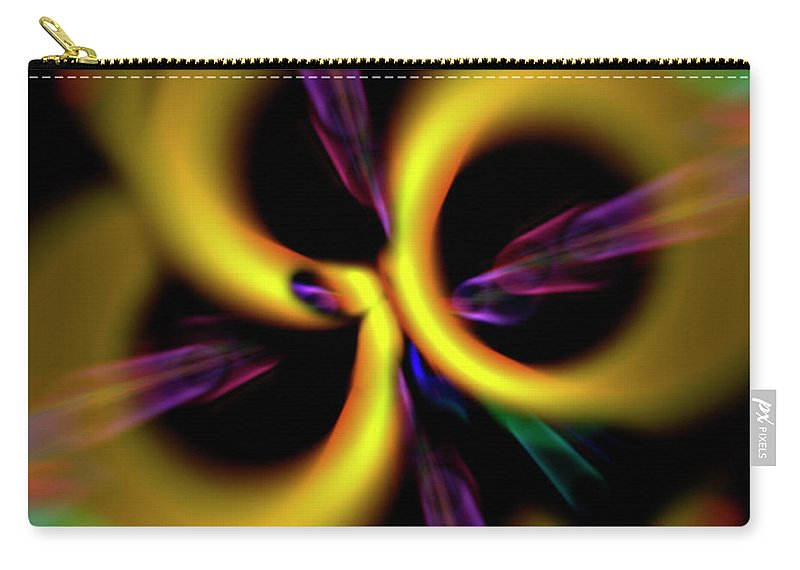 Abstract Carry-all Pouch featuring the digital art Laser Lights Abstract by Carolyn Marshall