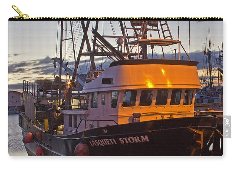 Boat Carry-all Pouch featuring the photograph Lasqueti Storm by Randy Hall