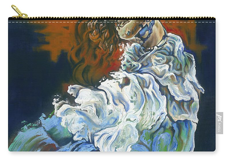Dive Carry-all Pouch featuring the painting Dive Into Your Soul by Karina Llergo