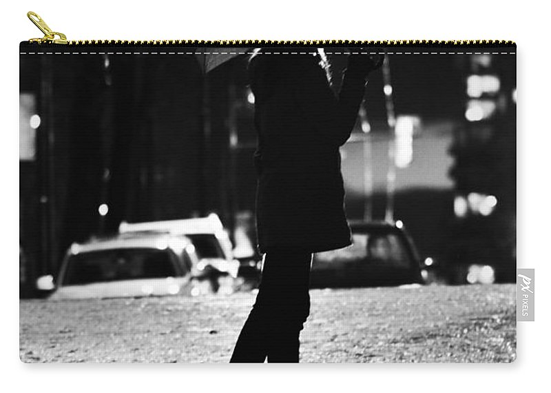 Street Photography Carry-all Pouch featuring the photograph last Cab by The Artist Project
