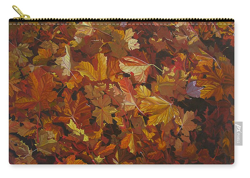 Fall Carry-all Pouch featuring the painting Last Fall In Monroe by Thu Nguyen