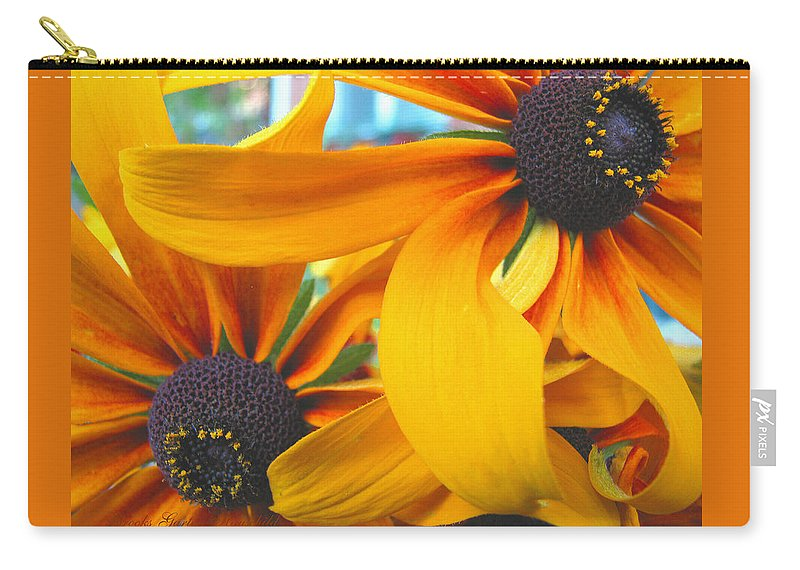 Beautiful Flowers Carry-all Pouch featuring the photograph Last Holdouts Of The Season - Black Eyed Susans - Floral Photography by Brooks Garten Hauschild