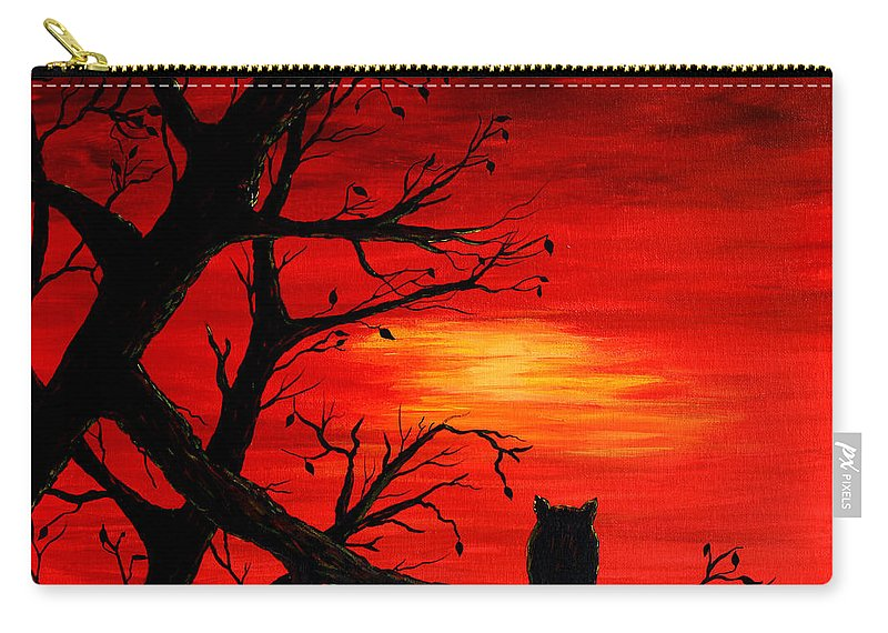 Last Leaves Of Autumn Carry-all Pouch featuring the painting Last Leaves Of Autumn by Barbara Griffin