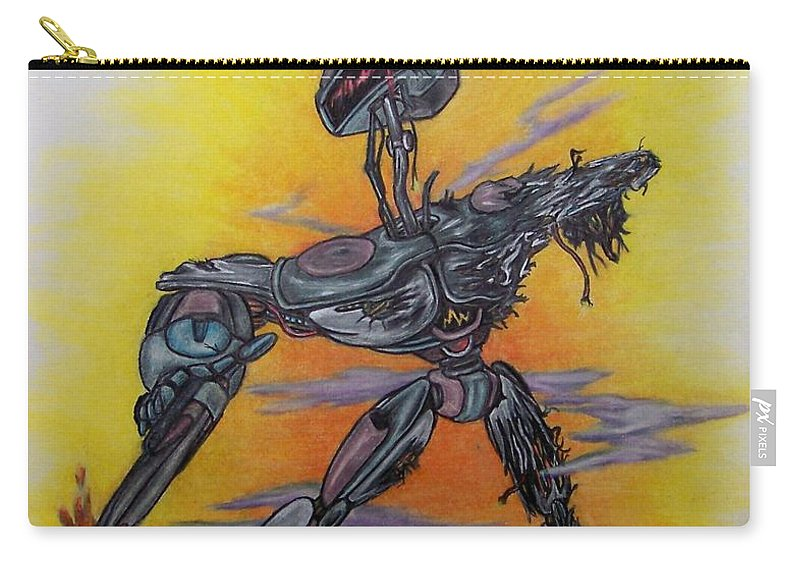 Michael Carry-all Pouch featuring the drawing Last Resort by Michael TMAD Finney