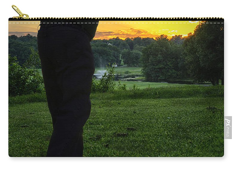 Golfer Carry-all Pouch featuring the photograph Last Round by Fran Gallogly