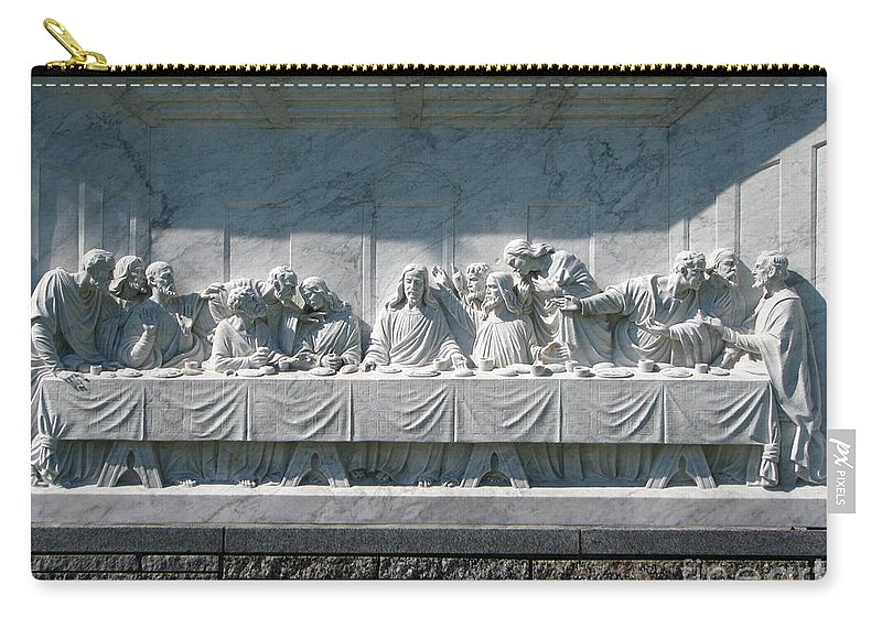 Art For The Wall...patzer Photography Carry-all Pouch featuring the photograph Last Supper by Greg Patzer