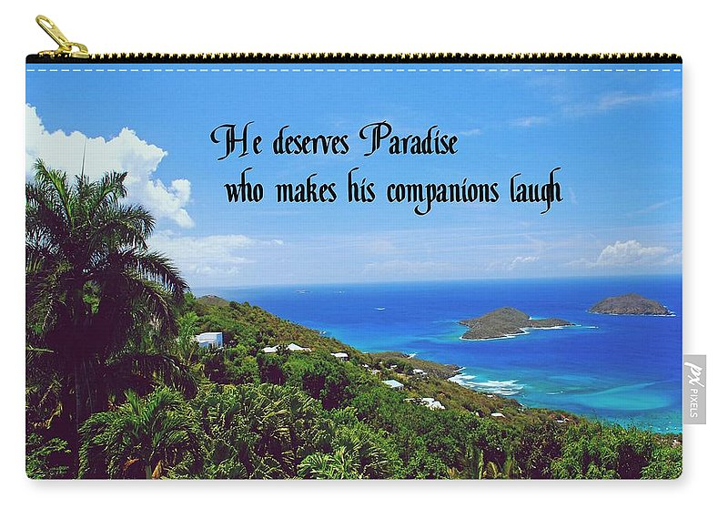 Laughter Carry-all Pouch featuring the photograph Laughter by Gary Wonning