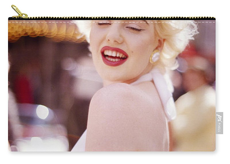 Marilyn Monroe Carry-all Pouch featuring the photograph Laughter Of Marilyn by Shaun Higson