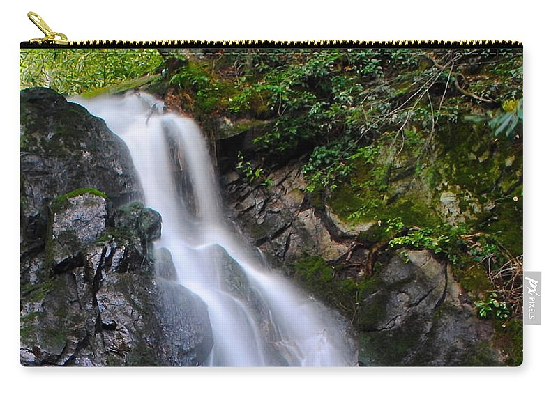 Laurel Carry-all Pouch featuring the photograph Laurel Falls by Frozen in Time Fine Art Photography