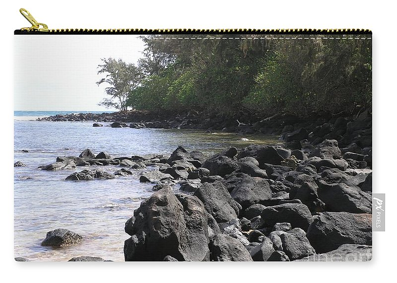 Ocean Carry-all Pouch featuring the photograph Lava Rocks by Mary Deal