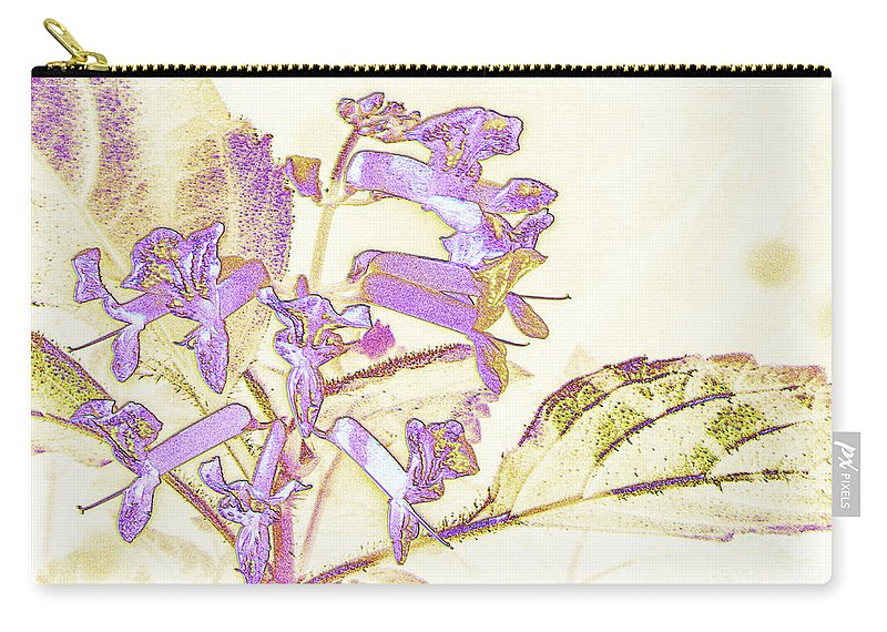Plant Carry-all Pouch featuring the photograph Lavender And Gold by Donna Brown