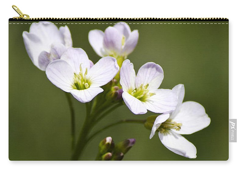 Flower Carry-all Pouch featuring the photograph Lavender Blush Cuckoo Flower by Christina Rollo