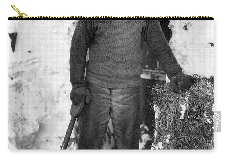 1910 Carry-all Pouch featuring the photograph Lawrence Oates (1880-1912) by Granger
