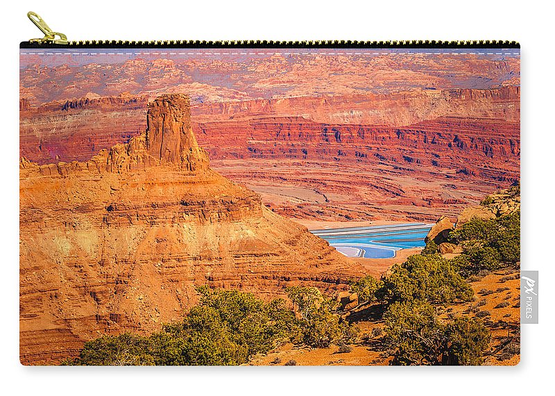 Red Rocks Carry-all Pouch featuring the photograph Layers by Edie Snell
