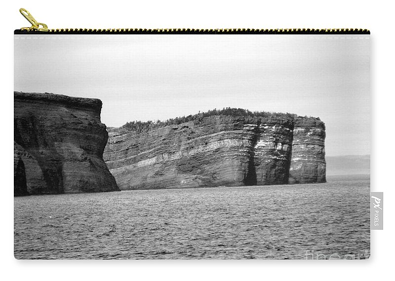 Rock Carry-all Pouch featuring the photograph Layers Of Bedrock by Barbara Griffin