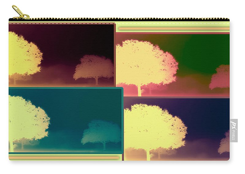 Abstract Carry-all Pouch featuring the photograph Layers Of Fog by DigiArt Diaries by Vicky B Fuller