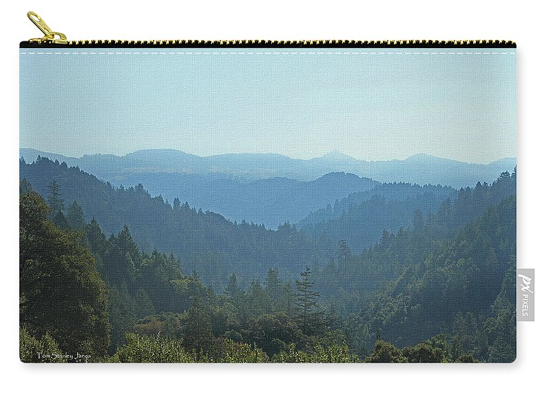 Layers Of Forest And Bllue Sky Carry-all Pouch featuring the photograph Layers Of Forest And Bllue Sky by Tom Janca
