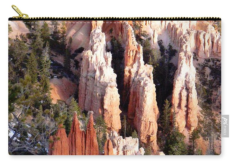 Bryce Hoodoos Carry-all Pouch featuring the photograph Layers Of Hoodoos And Bluffs by Rincon Road Photography By Ben Petersen