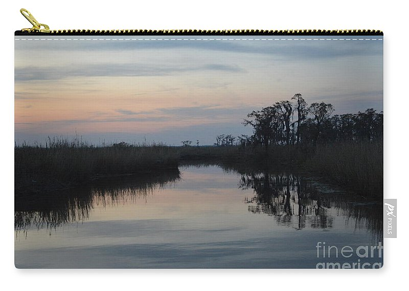 Louisiana Bayou Carry-all Pouch featuring the photograph Lazy Bayou by Xyldia Grace