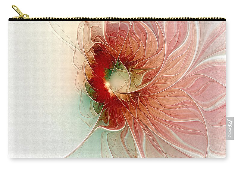 Digital Art Carry-all Pouch featuring the digital art Lazy Daisy II by Amanda Moore