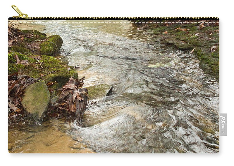 Lazy Carry-all Pouch featuring the photograph Lazy Mountain Stream by Douglas Barnett