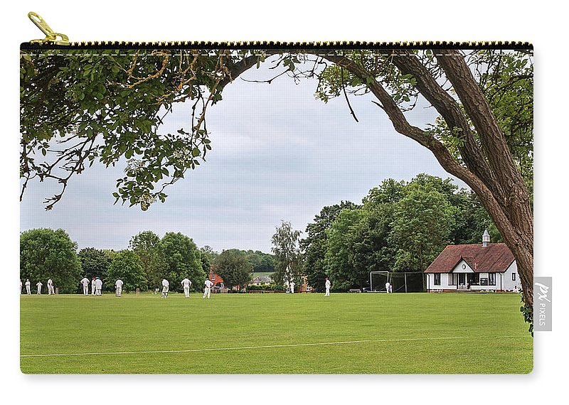 Cricket Carry-all Pouch featuring the photograph Lazy Sunday Afternoon - Cricket On The Village Green by Gill Billington
